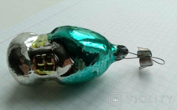 Елочная игрушка Домик- грибок с зеленой крышей СССР 6см, фото №7