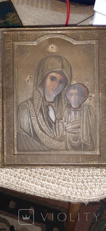 Икона божьей матери,старинная, фото №2