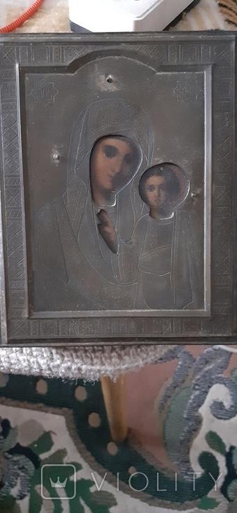 Икона божьей матери,старинная, фото №3