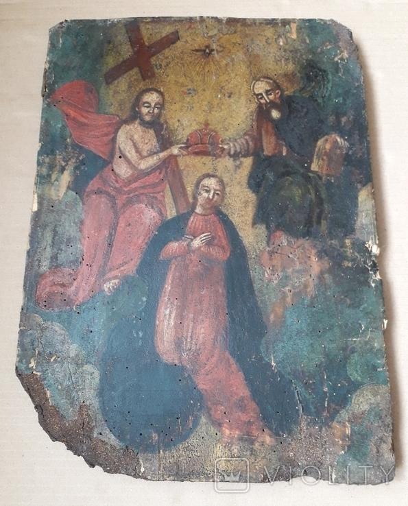 Икона 40 см х 29 см под Реставрацию, фото №2