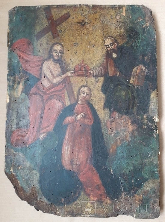 Икона 40 см х 29 см под Реставрацию, фото №4
