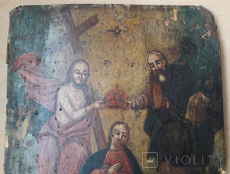 Икона 40 см х 29 см под Реставрацию, фото №5