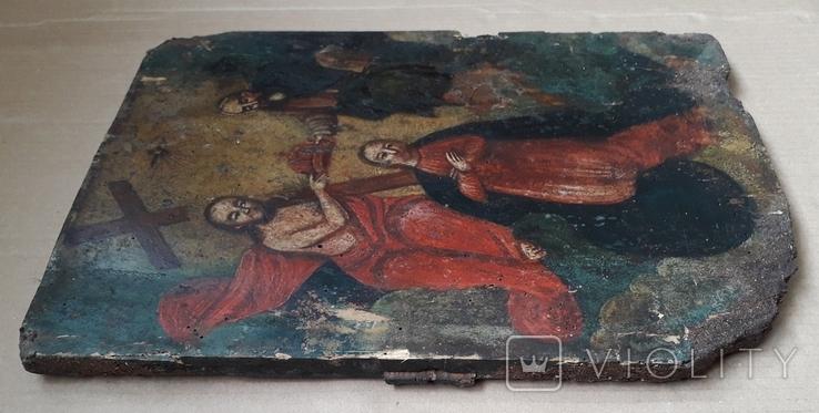 Икона 40 см х 29 см под Реставрацию, фото №8