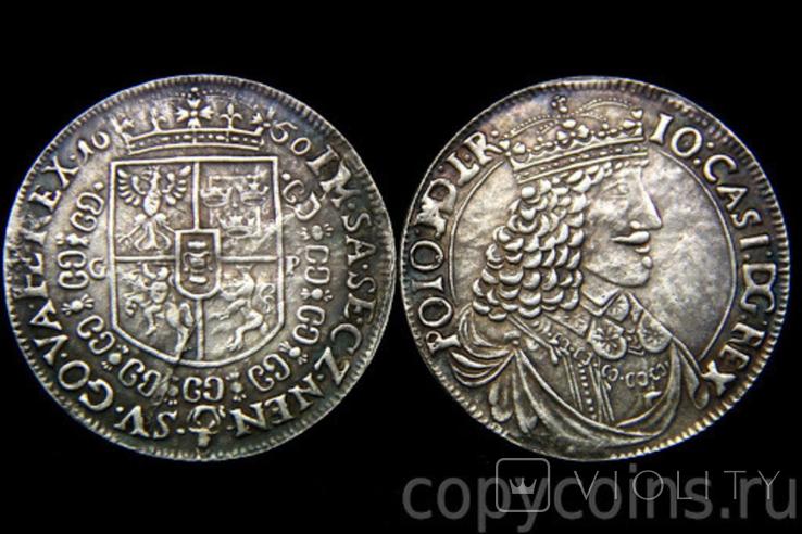 1 талер 1650 года Яна 2 Казимира копия