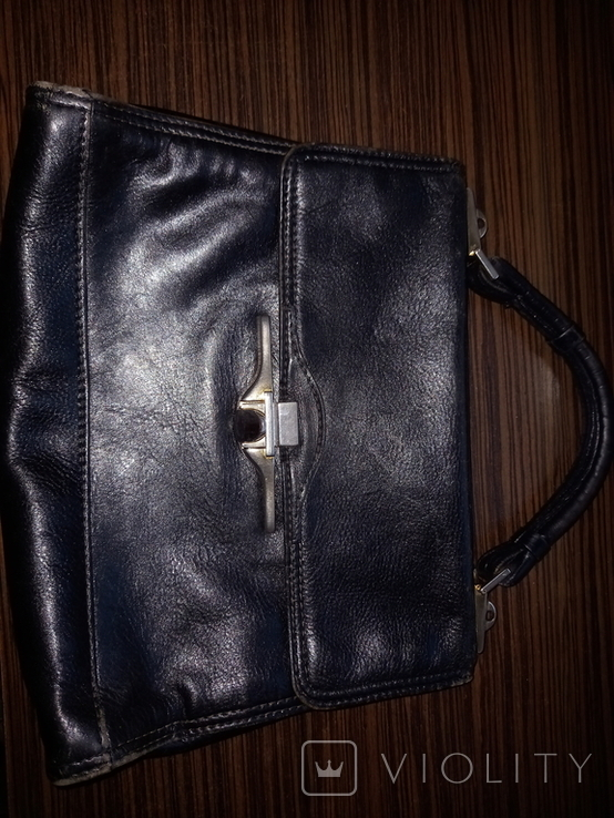 Портфель кожанный Firenze Италия винтажный, фото №2