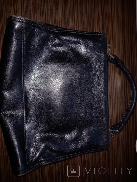 Портфель кожанный Firenze Италия винтажный, фото №3