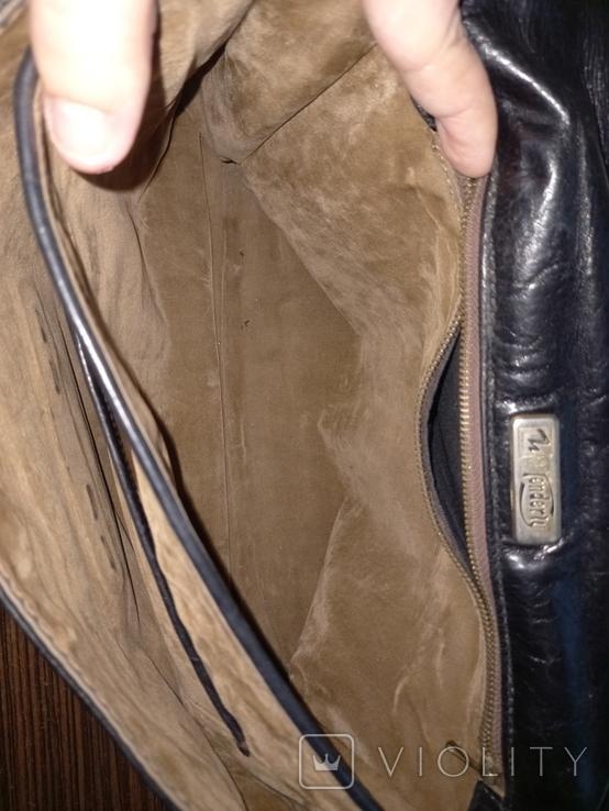 Портфель кожанный Firenze Италия винтажный, фото №5