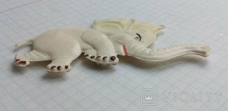 Елочная игрушка Слон СССР Колкий пластик 9.5см, фото №4