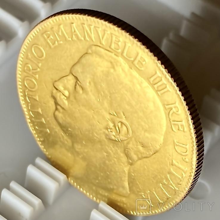 """50 лир. 1911. """"50 лет Королевству"""" Италия (R) (золото 900, вес 15,66 г), фото №8"""