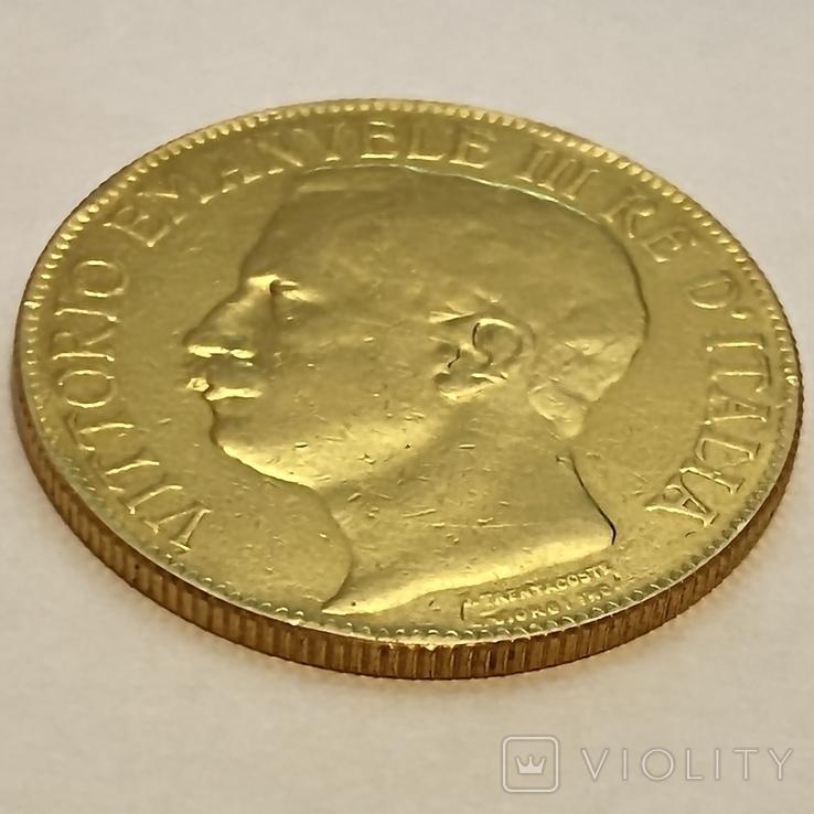 """50 лир. 1911. """"50 лет Королевству"""" Италия (R) (золото 900, вес 15,66 г), фото №11"""