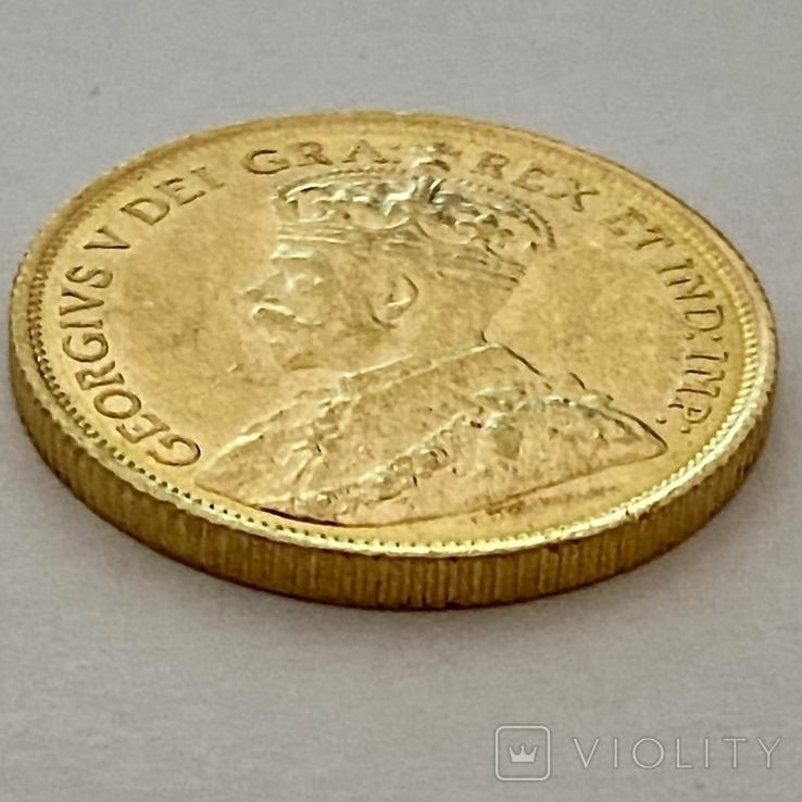 5 долларов. 1912. Георг V. Канада (золото 900, вес 8,37 г), фото №5