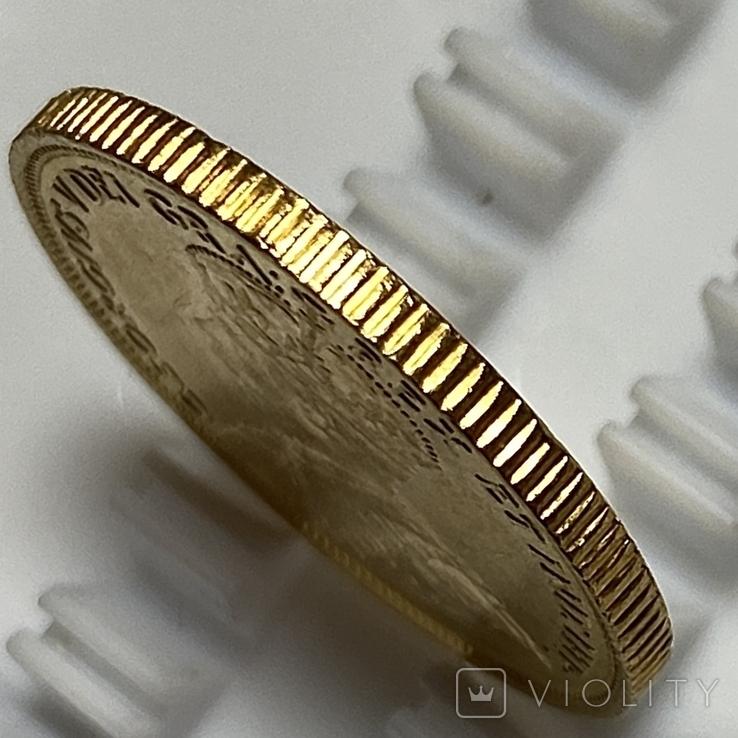 5 долларов. 1912. Георг V. Канада (золото 900, вес 8,37 г), фото №9