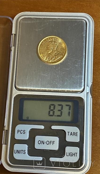 5 долларов. 1912. Георг V. Канада (золото 900, вес 8,37 г), фото №13