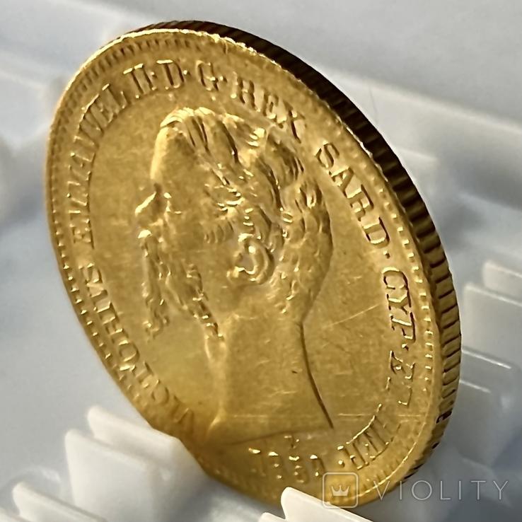 20 лир. 1859. Сардиния. (золото 900, вес 6,45 г), фото №9