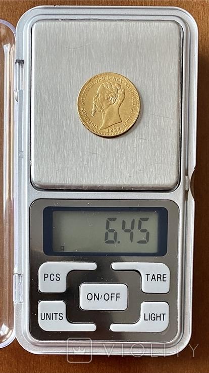 20 лир. 1859. Сардиния. (золото 900, вес 6,45 г), фото №12