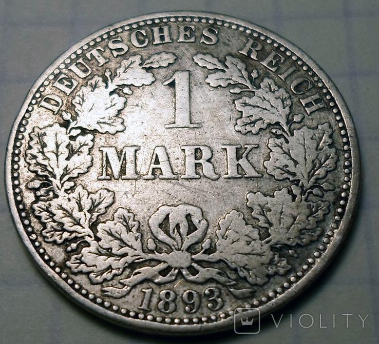 1 марка 1893 г. (А), Германия, фото №5