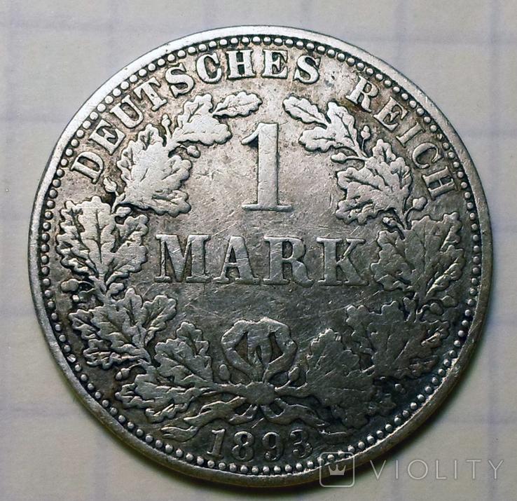 1 марка 1893 г. (А), Германия, фото №6