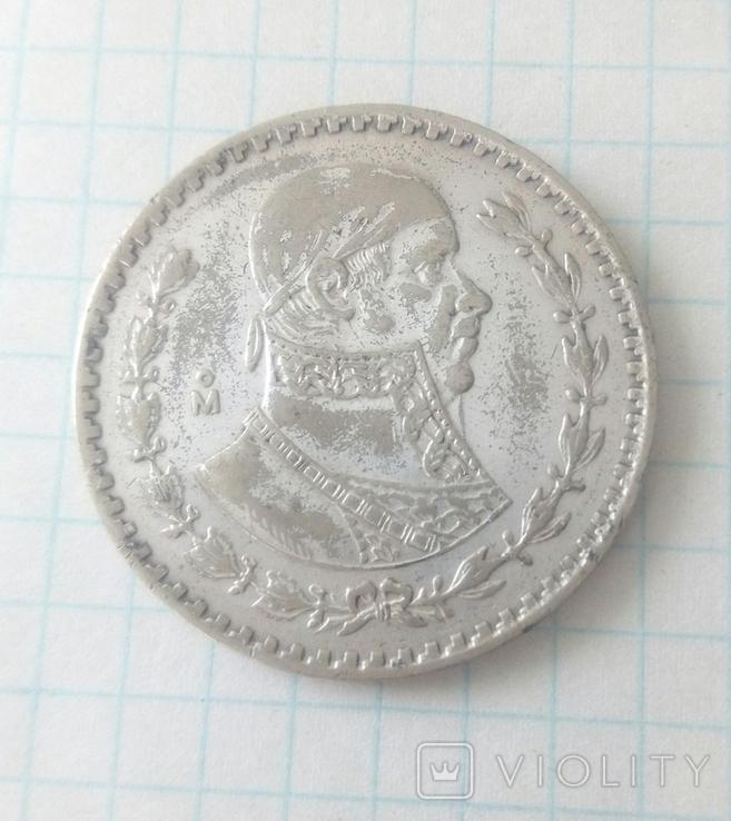 1 песо, Мексика, 1962 г, фото №2