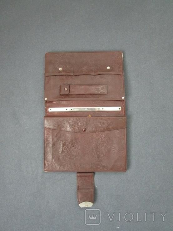 Старенький портфель Мосштамп СССР (с ключом), фото №3