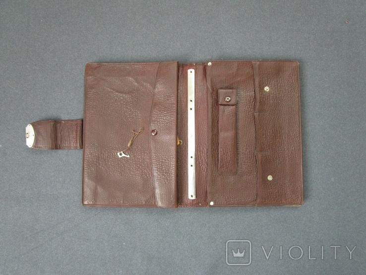 Старенький портфель Мосштамп СССР (с ключом), фото №9