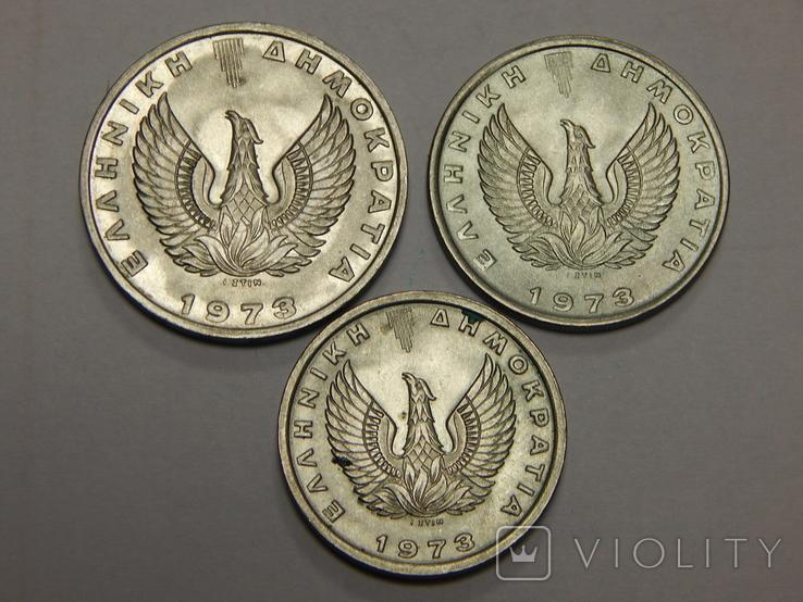 3 монеты Греции, 1973 г, фото №3