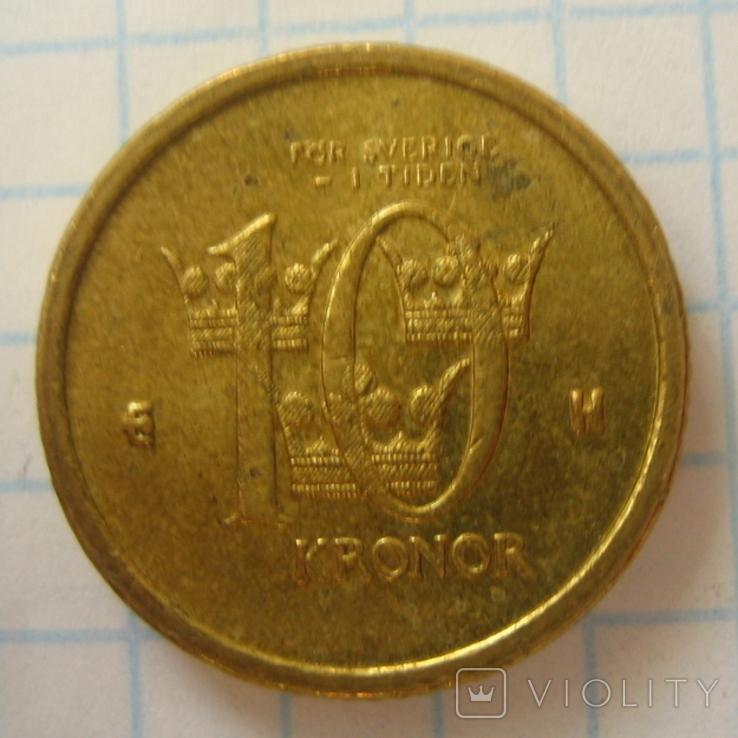 Швеция 10 крон, 2003, фото №4