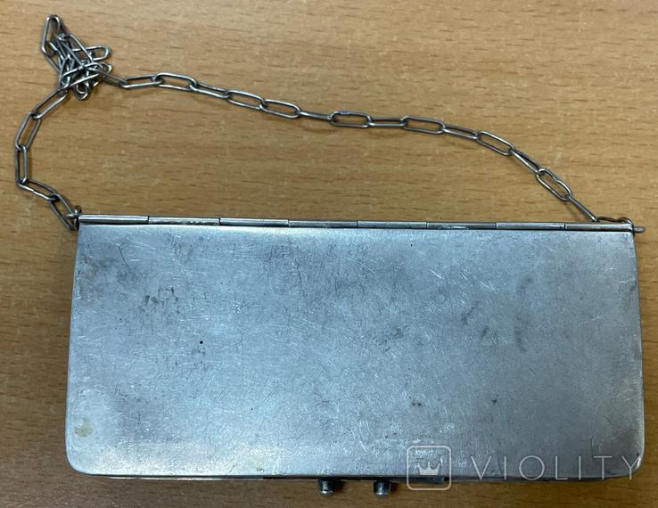 Серебряная сумочка 84 пробы, фото №4