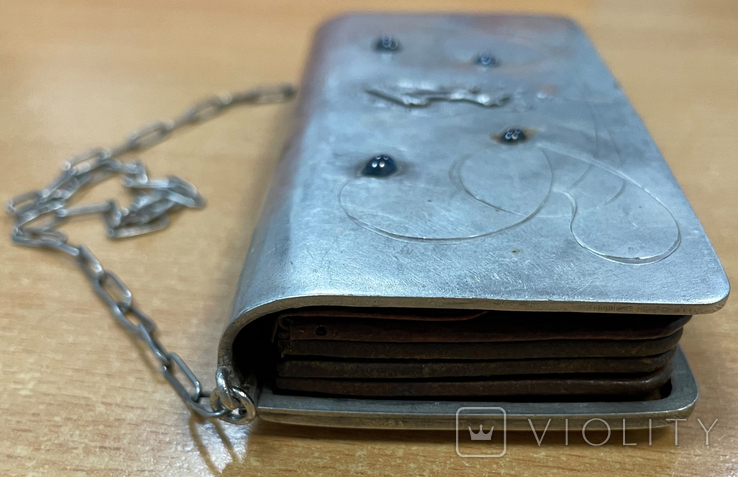 Серебряная сумочка 84 пробы, фото №8