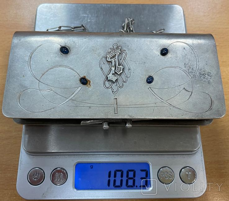 Серебряная сумочка 84 пробы, фото №12