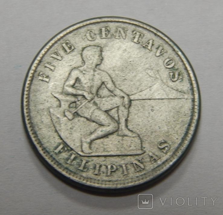 5 центавос, Филиппины, 1921 г, фото №2