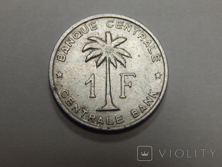 1 франк, 1958 г Бельгийское Конго, фото №2