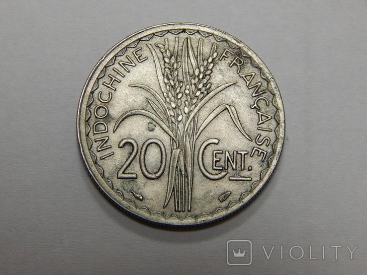 20 центов, 1939 г Французский Индокитай, фото №2