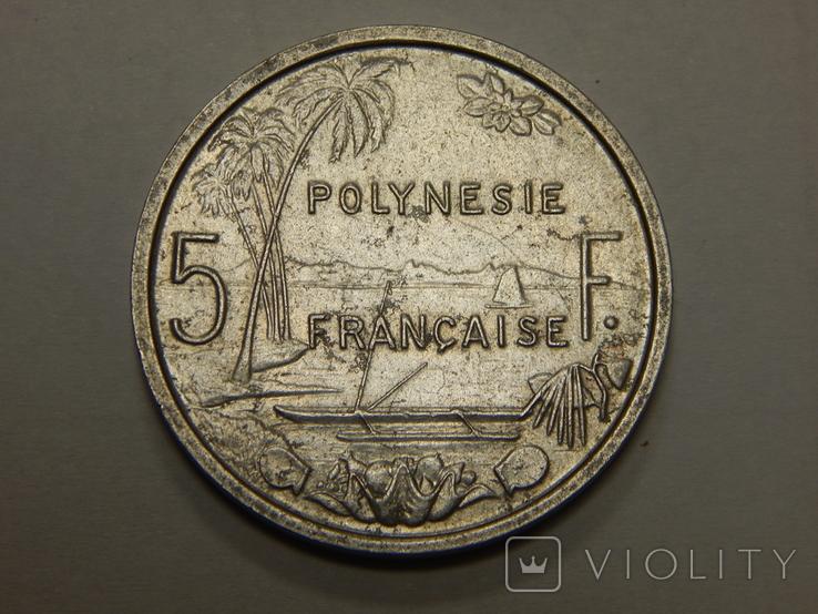 5 франков, 1965 г Французская Полинезия, фото №2