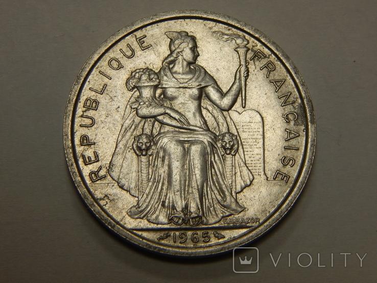 5 франков, 1965 г Французская Полинезия, фото №3