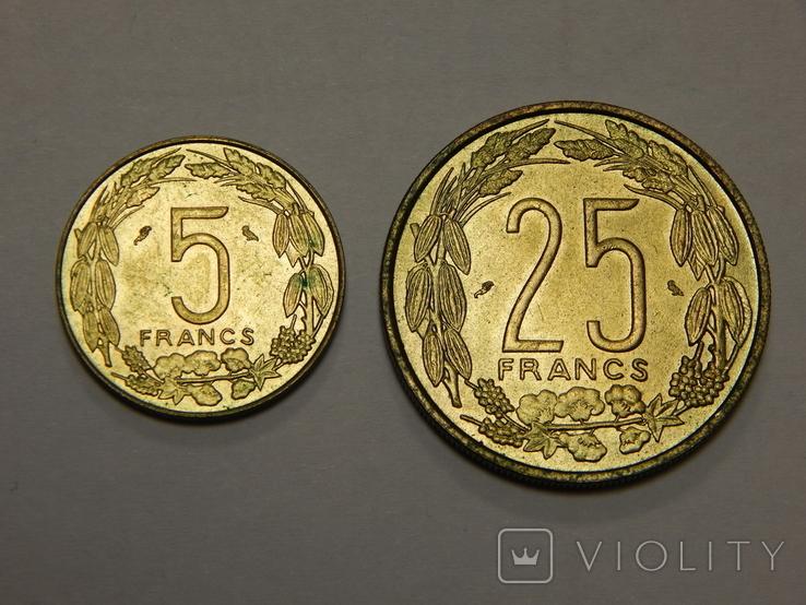 5 и 25 франков, Камерун, фото №2