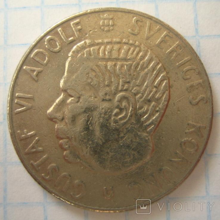 Швеция 1 крона, 1969, фото №4
