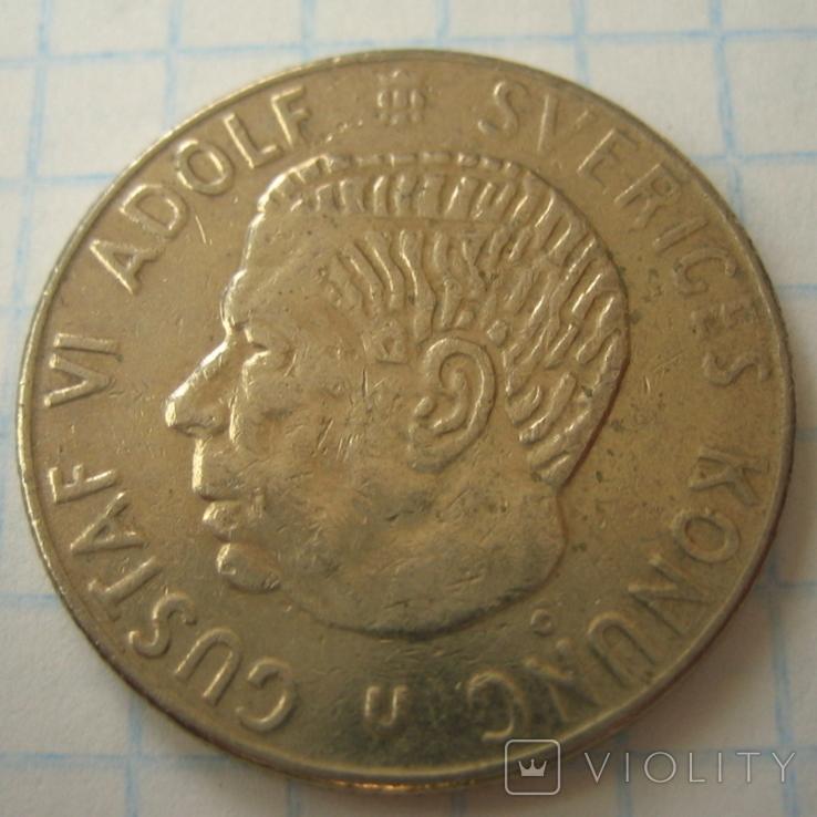 Швеция 1 крона, 1969, фото №5