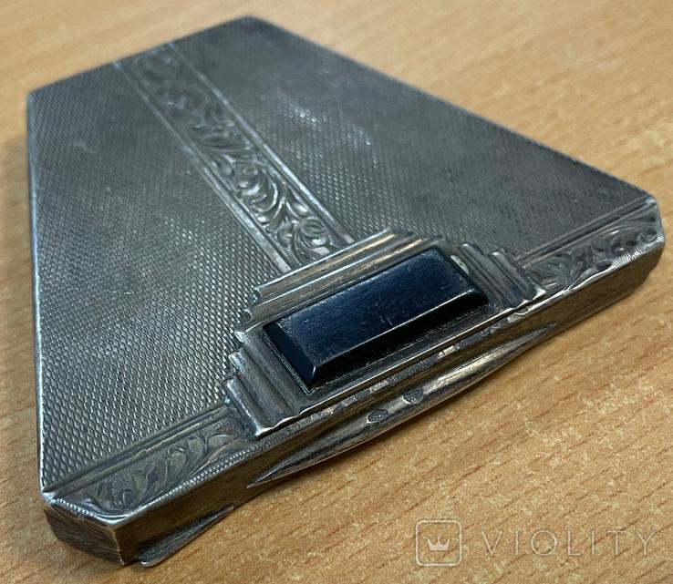 Серебряная пудреница 875 пробы, фото №2