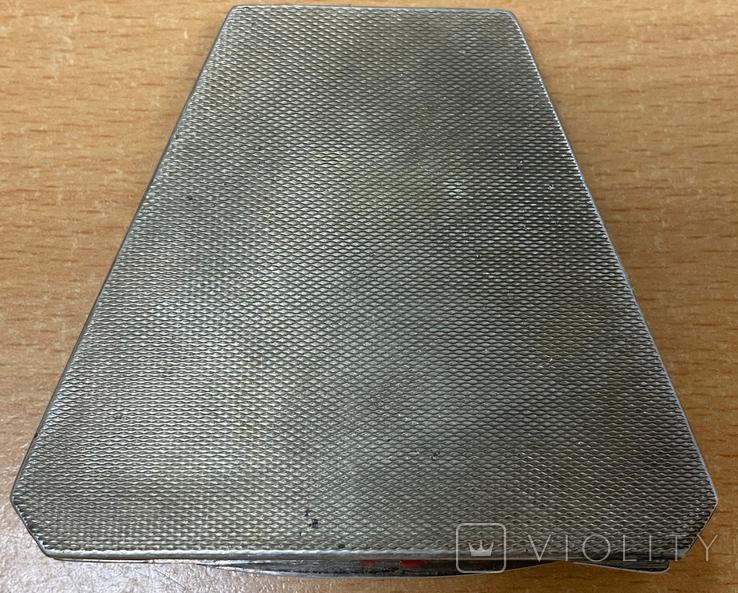 Серебряная пудреница 875 пробы, фото №4