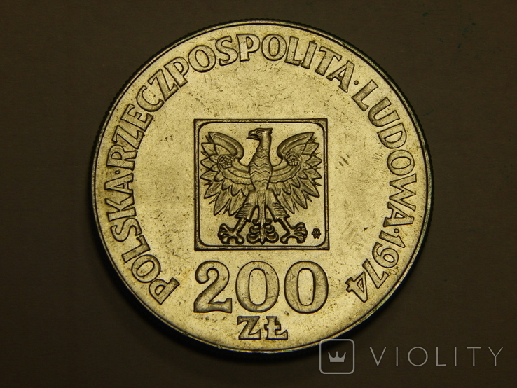 200 злотых, 1974 г Польша, фото №2