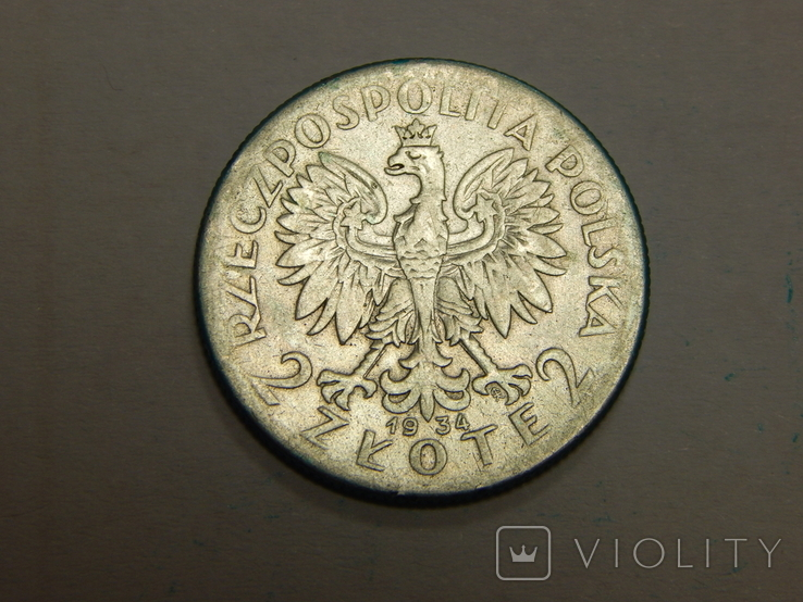 2 злотых, 1934 г Польша, фото №2