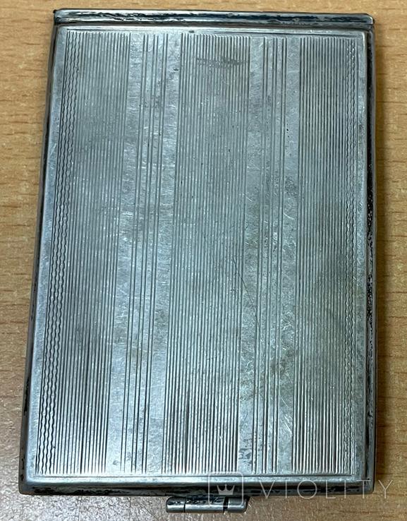 Серебряная пудреница 800 пробы, фото №4
