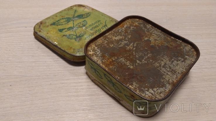 """Коробка """"Мятный зубной порошок"""" ( Главпарфюмер, фабрика """"Свобода"""", москва ), фото №8"""