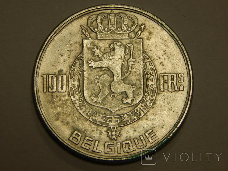 100 франков, 1954 г Бельгия, фото №2