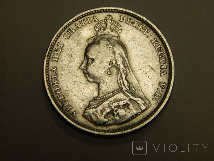 1 шиллинг 1887 г Великобритания, фото №3