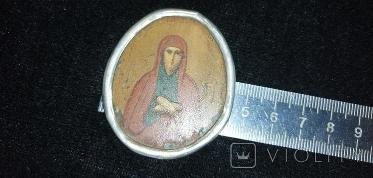 Икона БМ старинная. Металл. Серебро., фото №10