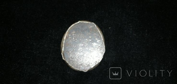 Икона БМ старинная. Металл. Серебро., фото №12