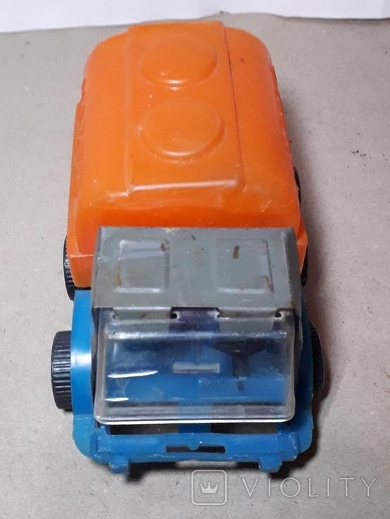 Машинка из СССР Бочка МОЛОКО длина 14 см,клеймо, фото №4