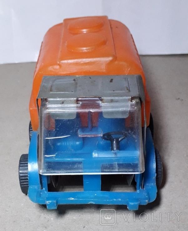 Машинка из СССР Бочка МОЛОКО длина 14 см,клеймо, фото №5