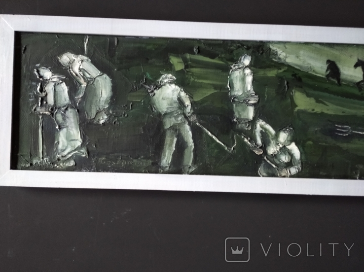 """Сенокос"" х.м. 20х70 см. Боголюбов С., фото №5"